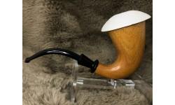 Block Meerschaum Calabash Pipe (Metarial is Okume)