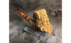 Block Meerschaum Dark Wax Viking Pipe